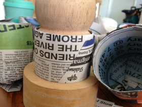 see how to recycle paper and make pots for seeds